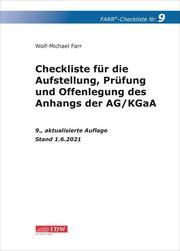 Farr, Checkliste 9 (Anhangs der AG/KGaA)