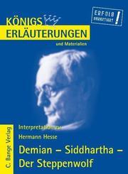 Demian - Siddhartha - Der Steppenwolf von Hermann Hesse.