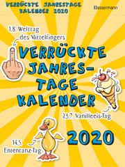 Verrückte Jahrestage Kalender 2020