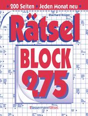 Rätselblock 275 - Cover