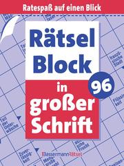 Rätselblock in großer Schrift 96