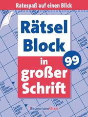Rätselblock in großer Schrift 99