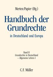 Handbuch der Grundrechte in Deutschland und Europa II