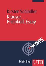 Klausur, Protokoll, Essay