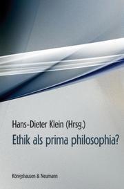 Ethik als prima philosophia?