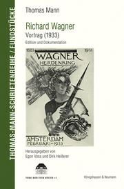 Richard Wagner - Vortrag (1933)
