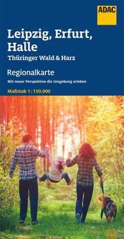 ADAC Regionalkarte Blatt 9 Leipzig, Erfurt, Halle 1:150 000