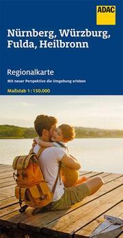 ADAC Regionalkarte Blatt 12 Nürnberg, Würzburg, Fulda, Heilbronn 1:150 000