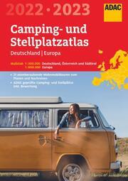 ADAC Camping- und StellplatzAtlas 2022/23 Deutschland 1:300 000, Europa 1:800 000