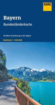 ADAC BundesländerKarte Deutschland Blatt 12 Bayern 1:300 000