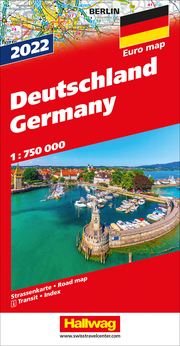 Deutschland 2022 Strassenkarte 1:750 000