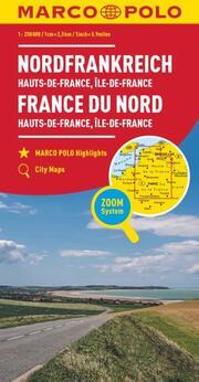 MARCO POLO Regionalkarte Frankreich: Hauts-de-France, Île-de-France 1:250 000
