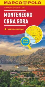 MARCO POLO Länderkarte Montenegro 1:250 000