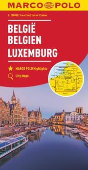 MARCO POLO Regionalkarte Belgien, Luxemburg 1:200 000
