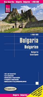 Landkarte Bulgarien/Bulgaria (1:400.000)