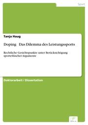 Doping ? Das Dilemma des Leistungssports