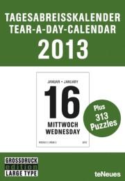 Tagesabreißkalender in Großdruck 2013