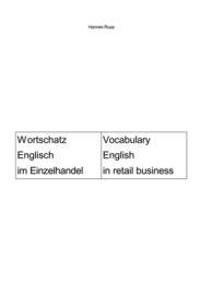 Wortschatz Englisch im Einzelhandel/Vocabulary English in retail business