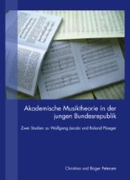 Akademische Musiktheorie in der jungen Bundesrepublik - Cover