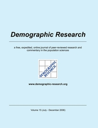 Demographic Research, Volume 15