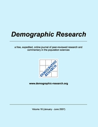 Demographic Research, Volume 16