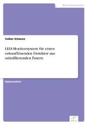 LED-Monitorsystem für einen ortsauflösenden Detektor aus szintillierenden Fasern