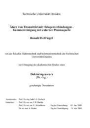 Ätzen von Titannitrid mit Halogenverbindungen