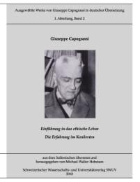 Ausgewählte Werke von Giuseppe Capograssi in deutscher Übersetzung