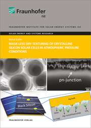 Mask-less Dry Texturing of Crystalline Silicon Solar Cells in Atmospheric Pressure Conditions