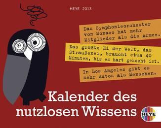 Kalender des nutzlosen Wissens 2013