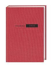 Terminer A6, Struktur rot Kalender 2022