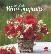 Herzliche Blumengrüße Postkartenkalender 2022
