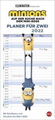 Minions - Planer für zwei Kalender 2022