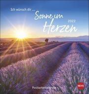 Ich wünsch dir ... Sonne im Herzen Postkartenkalender 2022