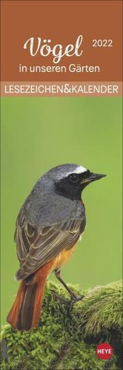 Vögel in unseren Gärten Lesezeichen & Kalender 2022