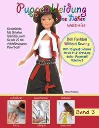 Puppenkleidung ohne Nähen 3 - Weltreise