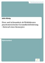 Flow und Achtsamkeit als Wirkfaktoren psychomotorischer Gesundheitsförderung - Entwurf eines Konzeptes