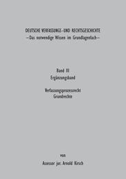 Deutsche Verfassungs - und Rechtsgeschichte