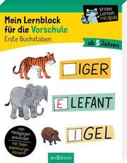 Mein Lernblock für die Vorschule - Erste Buchstaben - Cover