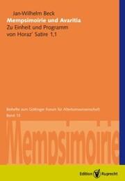Mempsimoirie und Avaritia