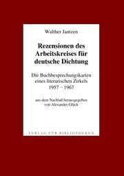 Rezensionen des Arbeitskreises für deutsche Dichtung