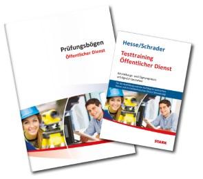 Testtraining Öffentlicher Dienst/Prüfungsbögen für den technischen Dienst - Cover