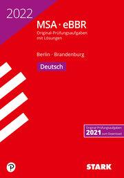 STARK Original-Prüfungen MSA/eBBR 2022 - Deutsch - Berlin/Brandenburg - Cover