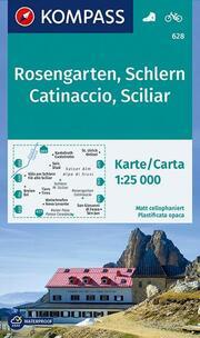 KOMPASS Wanderkarte Rosengarten, Schlern, Catinaccio, Sciliar