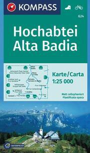 KOMPASS Wanderkarte Hochabtei, Alta Badia