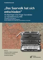 'Das Saarvolk hat sich entschieden' - Cover