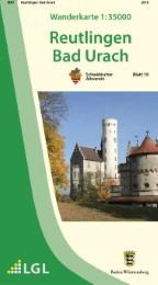 Wanderkarte 1:35000 Reutlingen Bad Urach