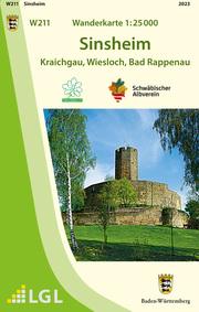 W211 Wanderkarte 1:25 000 Sinsheim
