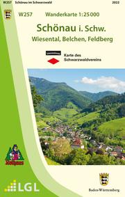 W257 Wanderkarte 1:25 000 Schönau im Schwarzwald