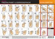 Info-Tafel: Fingeralphabet und Gebärdensprache